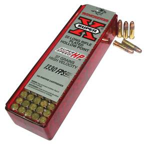Winchester Super-X Super Speed Rimfire Ammunition .22 LR 37 gr HP 100/box
