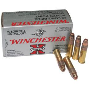 Winchester Super-X Powerpoint Rimfire Ammunition .22 LR 40 gr HP 1280 fps 50/box
