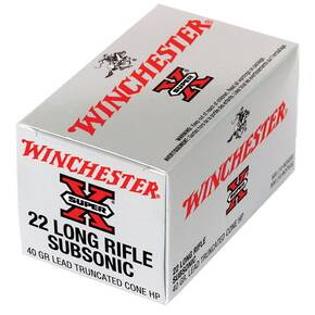 Winchester Super-X Subsonic Rimfire Rifle Ammunition .22 LR 40 gr HP 50/box