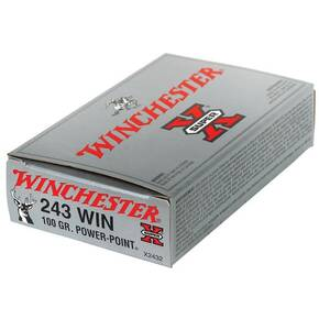 Winchester Super-X Power Point Rifle Ammunition .243 Win 100 gr PSP 2960 fps - 20/box