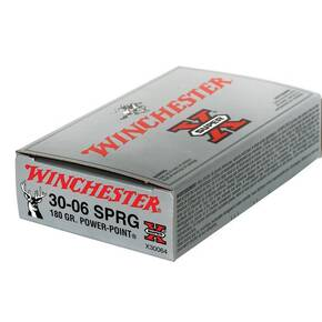 Winchester Super-X Power Point Rifle Ammunition .30-06 Sprg 180 gr PSP 2700 fps - 20/box