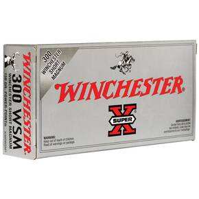 Winchester Super-X Power Point Rifle Ammunition .300 WSM 150 gr PSP 3270 fps - 20/box