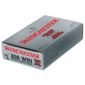 Winchester Super-X Power Point Rifle Ammunition .308 Win 150 gr PSP 2820 fps - 20/box