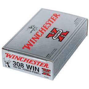 Winchester Super-X Power Point Rifle Ammunition .308 Win 180 gr PSP 2620 fps - 20/box