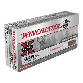 Winchester Super-X Power Point Rifle Ammunition .348 Win 200 gr PSP  - 20/box