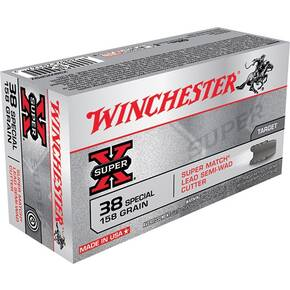 Winchester Super-X Handgun Ammunition .38 Spl 158 gr LSWC 755 fps 50/ct