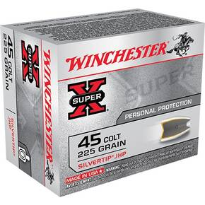 Winchester Super-X Handgun Ammunition .45 Colt 225 gr HP 920 fps 20/ct