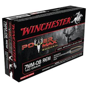 Winchester Super-X Power Max Bonded Rifle Ammunition 7mm-08 Rem 140 gr PHP  - 20/box