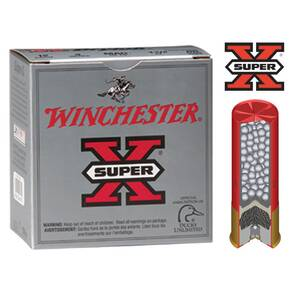 "Winchester Super-X Drylok Super Steel 12 ga 3"" MAX 1 3/8 oz #4 1300 fps - 25/box"