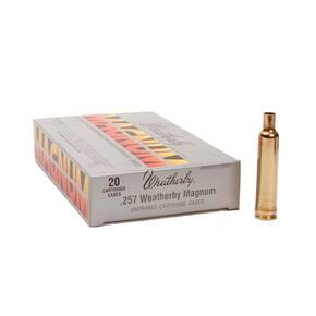 Weatherby Unprimed Brass Rifle Cartridges 20/ct  .257 Wby