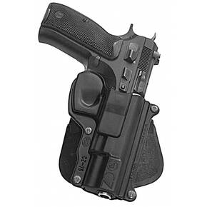 Fobus Standard Paddle Holster for CZ 750D Compact Black Right Hand