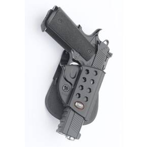 Fobus Evolution Series Paddle Holster For Springfield 1911 w/ Rail in Black Right Hand