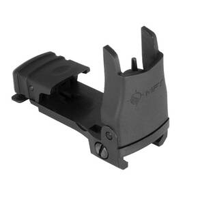 Front Back Up Polymer Sight flip up with standard elevation Adjustment