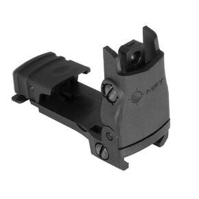 Rear Back Up Polymer Sight flip up with Windage Adjustment