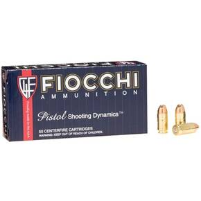 Fiocchi Pistol Shooting Dynamics Handgun Ammunition .380 ACP 95 gr FMJ 960 fps 50/box