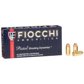 Fiocchi Pistol Shooting Dynamics Handgun Ammunition .380 ACP 90 gr JHP 1030 fps 50/box