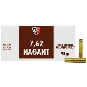 Fiocchi Pistol Shooting Dynamics Handgun Ammunition 7.62x38mmR 97 gr FMJ 1082 fps 50/box