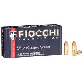 Fiocchi Pistol Shooting Dynamics Handgun Ammunition 9mm Luger 124 gr FMJ 1180 fps 50/box
