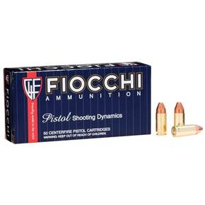 Fiocchi Pistol Shooting Dynamics Handgun Ammunition 9mm Luger 124 gr FMJ 1200 fps 50/box