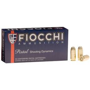 Fiocchi Pistol Shooting Dynamics Handgun Ammunition 9mm Makarov 95 gr FMJ 1020 fps 50/box