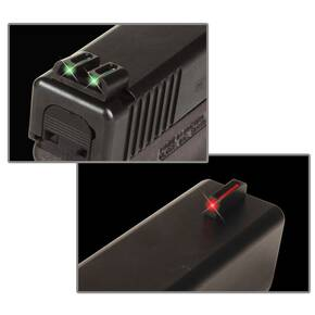 Truglo Fiber-Optic Sights (High) Fit Glock 20, 21, 25, 28, 29, 30, 31, 32, 37, 40, and 41 - Front Red/Rear Green