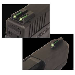 Truglo TFO Tritium/Fiber-Optic Day/Night Sights Fits Glock 17 / 17L, 19, 22, 23, 24, 26, 27, 33, 34, 35, 38, and 39 - Front Green/Rear Green