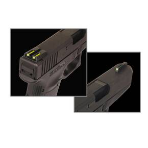 Truglo TFO Tritium/Fiber-Optic Day/Night Sights Fits Kimber 1911 models with FIXED REAR SIGHT - Front Green/Rear Yellow