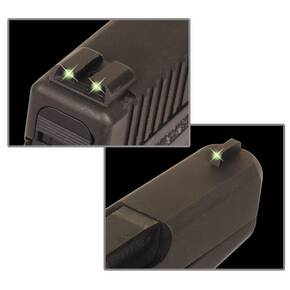 Truglo Tritium Night Sights (Low) Fits Glock 17 / 17L, 19, 22, 23, 24, 26, 27, 33, 34, 35, 38, and 39 - Front Green/Rear Green