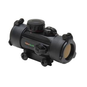 Truglo Traditional Red Dot Sight - 1x30mm 5 MOA Dot Size -  Black