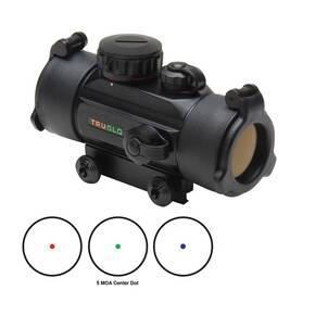 Truglo Triton 30mm Tri-Color Red Dot Sight - 1x30mm 5 MOA Dot - Black