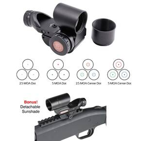 Truglo Triton 20mm Tri-Color Red Dot Sight - 1x28mm 5 MOA Red/Green/Blue Dot - Black