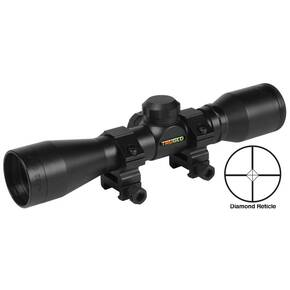 "Truglo Compact Rimfire & Shotgun Rifle Scope - 4x32mm 1"" SFP Diamond Ballistic 22.5' 5"" Black"