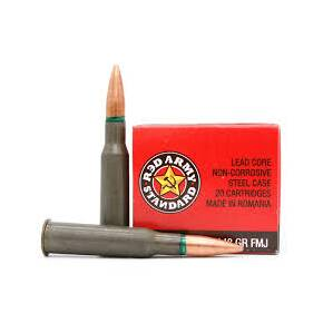 Century Arms Red Army Rifle Ammunition 7.62x54R 148gr FMJ 500/ct