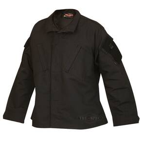Tru-Spec Tactical Response Uniform (TRU) Shirt - 65/35 Polyester/Cotton Rip-Stop Black Small