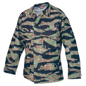 Tru-Spec BDU Coat - 100% Cotton Rip-Stop Original Vietnam Tiger Stripe Small