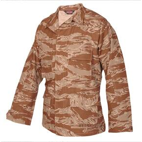 Tru-Spec BDU Coat - 100% Cotton Rip-Stop Desert Tiger Stripe Small