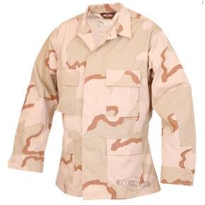 Tru-Spec BDU Coat - 50/50 CORDURA Nylon Cotton Rip-Stop 3-Color Desert Small