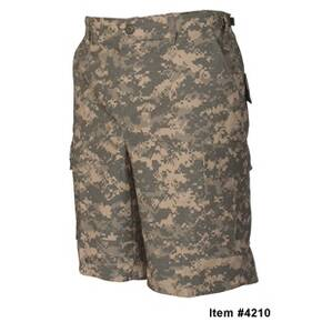 Tru-Spec BDU Shorts - 100% Cotton Rip-Stop All Terrain Digital Small