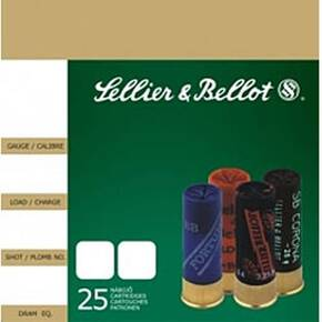 "Sellier & Bellot Shotgun Ammunition 12 ga 2 3/4""  9 plts #00  - 25/box"