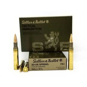 Sellier & Bellot M1 Grande Rifle Ammunition .30-06 Sprg. 150gr FMJ 2700 fps 20/ct