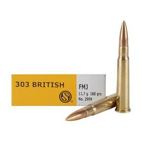 Sellier & Bellot Rifle Ammunition .303 British 180 gr FMJ 2440 fps - 20/box