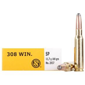 Sellier & Bellot Rifle Ammunition .308 Win 180 gr SP  - 20/box