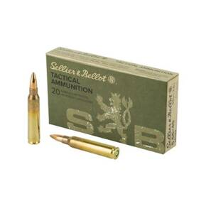 Sellier & Ballot M193 Rifle Ammunition 5.56mm 55gr FMJ 3300 fps 20/ct