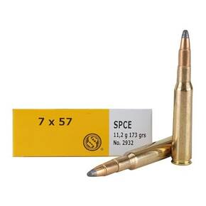 Sellier & Bellot Rifle Ammunition 7x57mm 173 gr SPCE 725 fps - 20/box