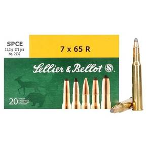 Sellier & Bellot Rifle Ammunition 7x65R 173 gr SPCE  - 20/box