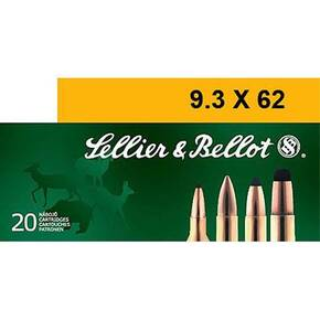 Sellier & Bellot Rifle Ammunition 9.3x62mm 285 gr SP 565 fps - 20/box