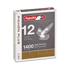 "Aguila Pichon Plus Shotshell 12 ga 2-3/4"" 1-1/4oz 1400 fps #8 10/ct"
