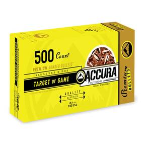 "Accura Premium Powerbond Bullets 9mm .355"" 124 gr RN 500/ct"