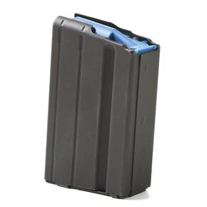 ASC AR-15 Stainless Steel Magazine 6.5mm/.284 Norma Black with Blue Follower 5/rd