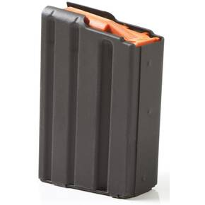ASC AR Family Rifle Magazine Orange Follower .223 Remington Black Aluminum 10/rd
